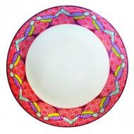 Soup Plate BIRDS OF PARADISE, Jade porcelain, 20.5x4.6cm