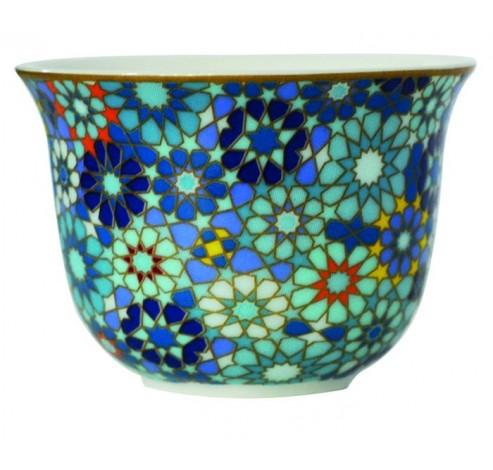 Coffee Cup MOUCHARABIEH BLUE, porcelain, 60ml  Images d'Orient