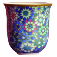 Coffee Cup MOUCHARABIEH BLUE, porcelain, 90ml