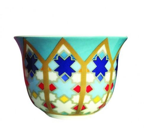 Coffee Cup SURSOCK VITRAIL, porcelain, 60ml  Images d'Orient