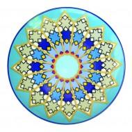Plate SURSOCK VITRAIL, Jade porcelain, 15.3cm