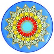 Plate SURSOCK VITRAIL, Jade porcelain, 20.3cm