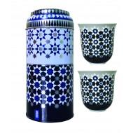 Tin box with 2 coffee cups 90ml, KAOKAB