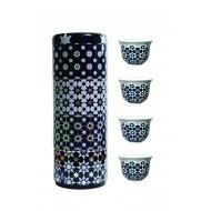Tin box with 4 coffee cups 60ml, KAOKAB