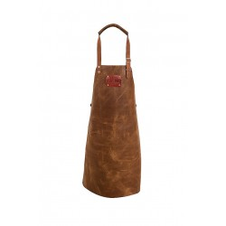 LEATHER APRON COGNAC  Not Just BBQ