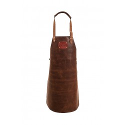 LEATHER APRON BROWN  Not Just BBQ