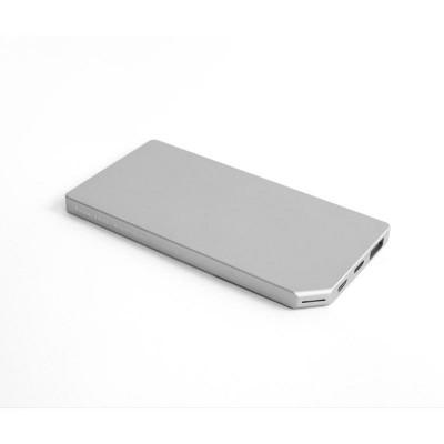 PowerBank Slim Aluminum 5000mAh; SILVER  Allocacoc
