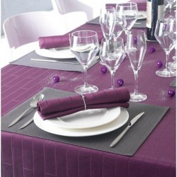 Tablecloth Bricks Aubergine  Winkler