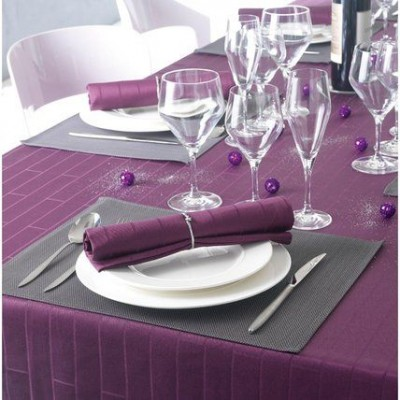 Tablecloth Bricks Aubergine  Winkler