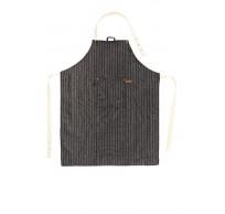Schort SHERLOCK Stripe 68x85cm, zwart