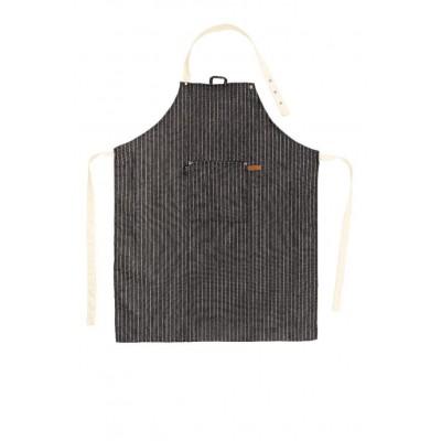 Schort SHERLOCK Stripe 68x85cm, zwart  Tiseco