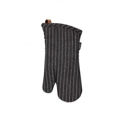 Ovenwant (1R + 1L) SHERLOCK Stripe, 17x33cm, zwart  Tiseco
