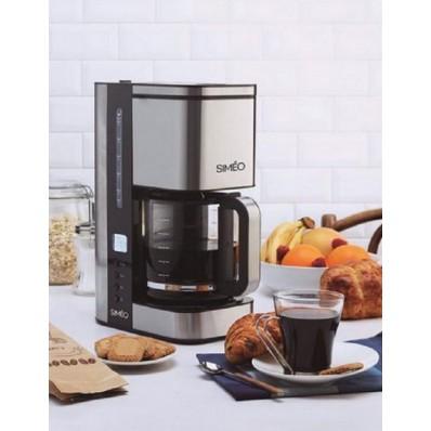 Koffiezetter inox timer 1,2L