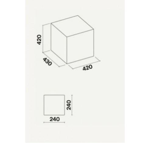 Rubik E.ion Eiland 42 cm Zwart  Falmec