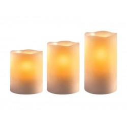 Set LED kaarsen met afstandsbediening wit  Beper