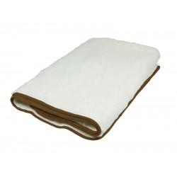 RI.403 1 pers. elektrisch onderdeken 100% wol wit  Beper