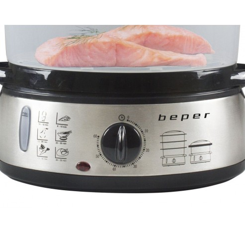BC.250 stoomkoker roestvrij staal 9L 800W  Beper