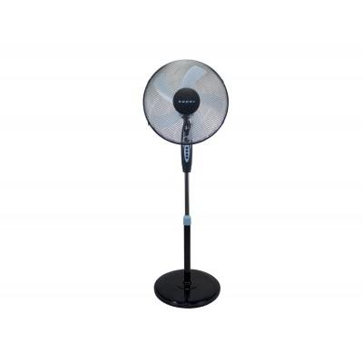 P206VEN130 statiefventilator ronde basis timer 40W zwart/blauw  Beper