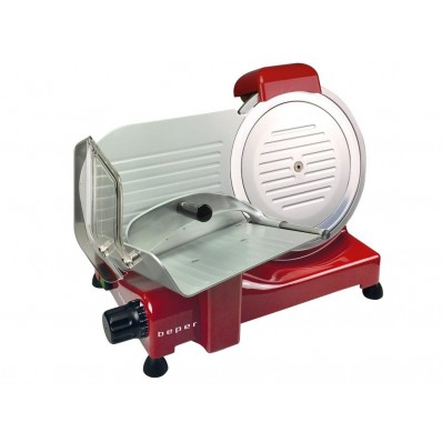 BP.751 vleessnijmachine 25 cm diam. roestvrij stalen blad rood