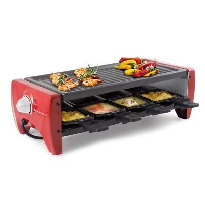 BT.750Y raclette grill voor 8 personen 1200W rood  Beper