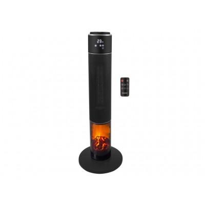P203TER001 toren ventilatorkachel keramisch met effect 2000W zwart  Beper
