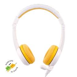 School+ on-ear HPH staafmicrofoon geel  Buddyphones