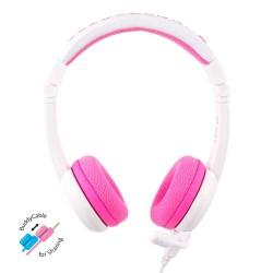 School+ on-ear HPH staafmicrofoon roze  Buddyphones