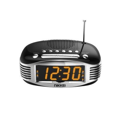 Nikkei NR400BK Retro klokradio Duo Alarm AM/FM Zwart  Nikkei
