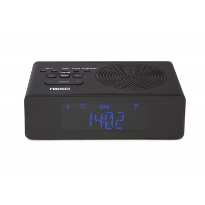 NRDB15BK Klokradio DAB+ FM Autoscan 2x alarm zwart  Nikkei
