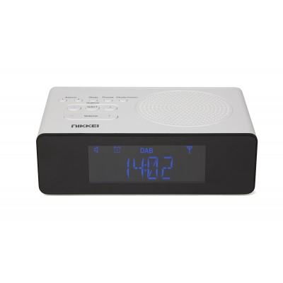 Nikkei NRDB15WE Klokradio DAB+ FM Autoscan 2x alarm wit  Nikkei