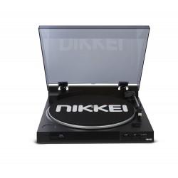 Nikkei NTT01U Draaitafel (Snaar) met USB Mp3 Encoding via PC Zwart