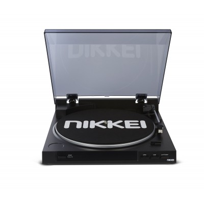 Nikkei NTT01U Draaitafel (Snaar) met USB Mp3 Encoding via PC Zwart  Nikkei
