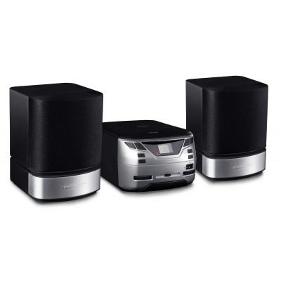 Nikkei NMC321 Microset Radio/CD speler line in  zwart grijs  Nikkei