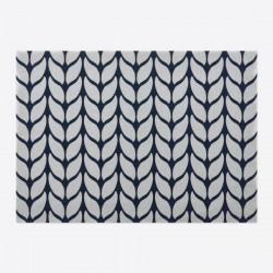 Soft Wool Blauw en Grijs  Day Drap