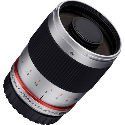 300mm Reflex f/6.3 Sony E Zilver  Samyang