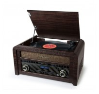 Vintage Muziekcenter DAB+, radio, CD en Bluetooth