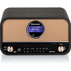 DAB+ Retro Radio + CD Speler met Bluetooth Zwart Roadstar