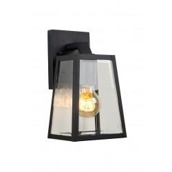 MATSLOT - Wandlamp Buiten - E27 - IP23 - Zwart Lucide