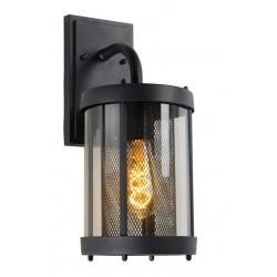 MAKKUM - Wandlamp Buiten - E27 - IP23 - Zwart Lucide