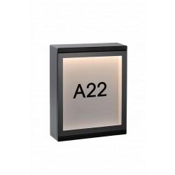CADRA - Wandlamp Buiten - LED - 1x6W 3000K - IP54 - Zwart Lucide