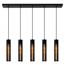 Lionel - Hanglamp - 5xE27 - Zwart Lucide