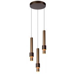 Margary - Hanglamp - Ø 28 cm - LED Dimb. - 3x5W 2700K - Koffie Lucide