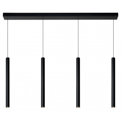 Lorenz - Hanglamp - LED Dimb. - 4x4W 3000K - Zwart Lucide
