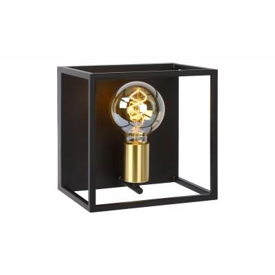RUBEN Wandlicht 1x E27 40W Zwart / mat goud  Lucide