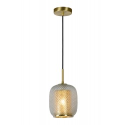 AGATHA Hanglamp 1x E27/40W Mat Goud/Glas Lucide
