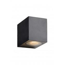 ZORA-LED Wandlicht GU10/5W L9 W6.5 H8cm Zwart Lucide