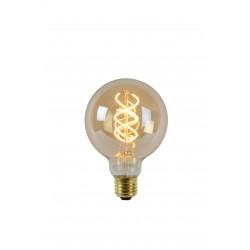 Lamp LED Globe G95 5W 260LM 2200K Dimbaar Amber Lucide