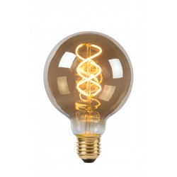 Lamp LED Globe 9,5cm5W 180LM 2200K Dimbaar Smoke Lucide