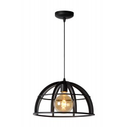 DIKRA Hanglamp E27 60W Ø40cm Zwart Lucide