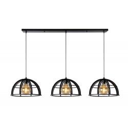 DIKRA Hanglamp 3xE27 60W Zwart Lucide